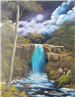 Painting of a Waterfall