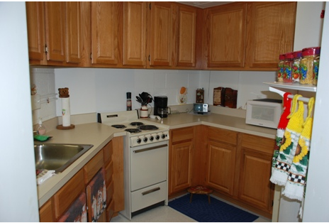 Kitchen stove and countertops