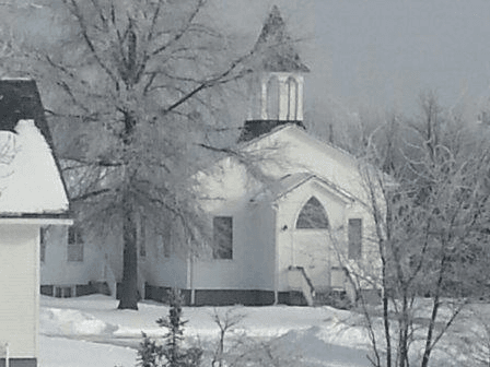 Exterior Church View in Winter
