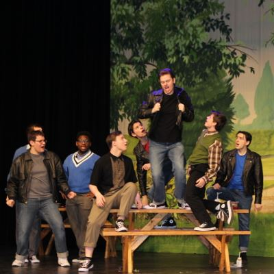 Students Performing Grease Musical 1