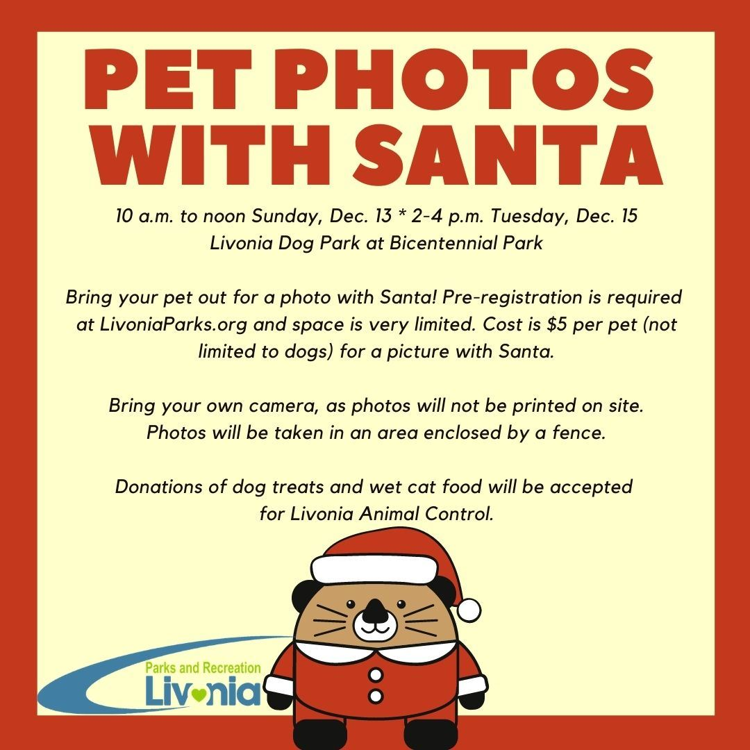 Pet Photos With Santa event flyer Opens in new window