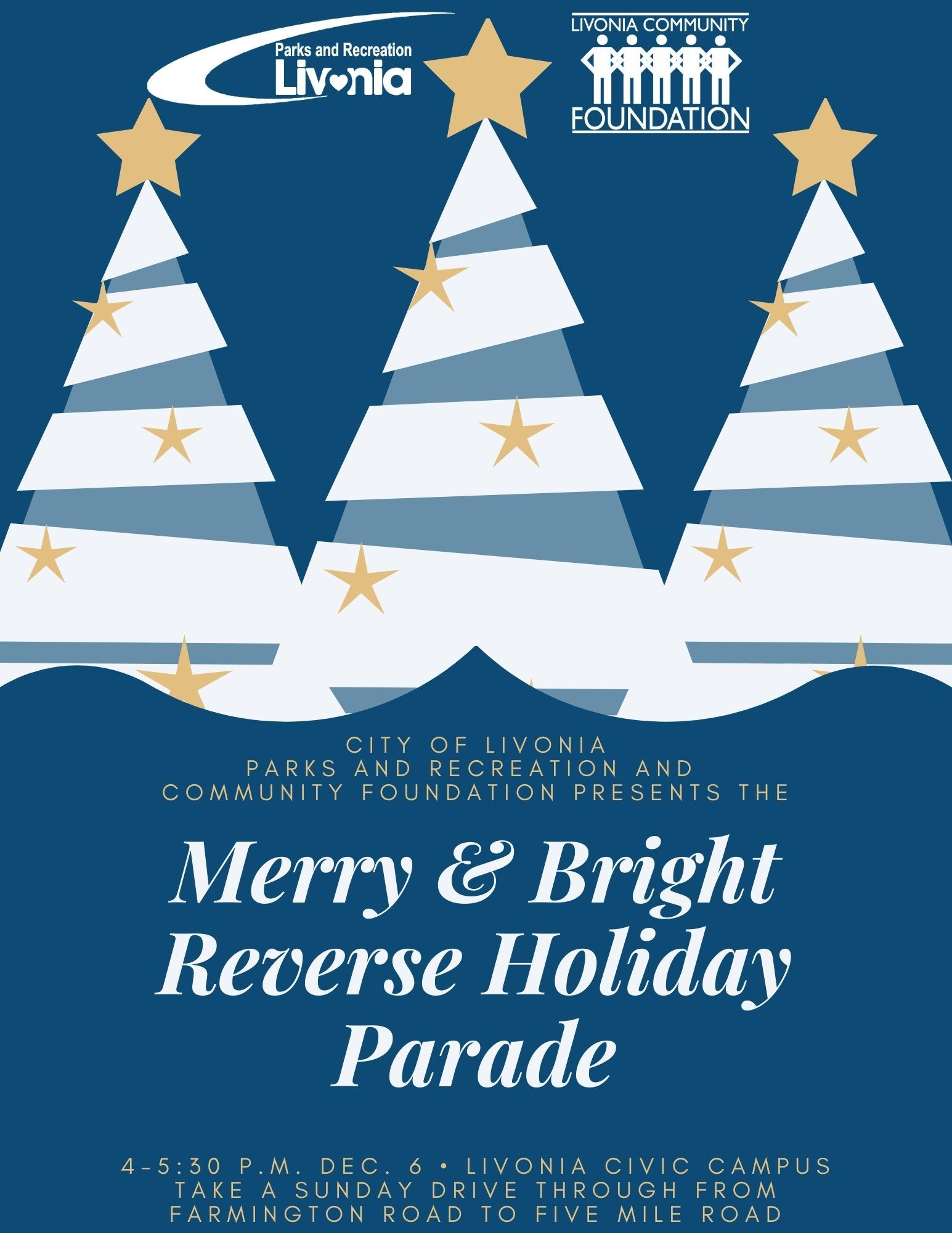 Merry and Bright Reverse Holiday Parade event flyer